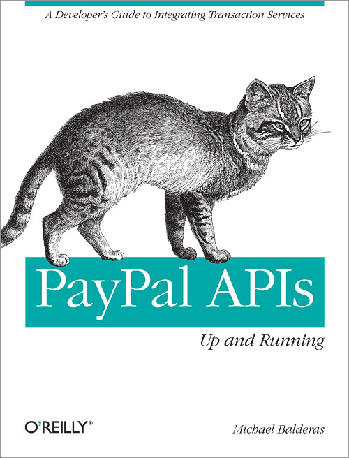 Cover of 'PayPal APIs:  Up and Running'